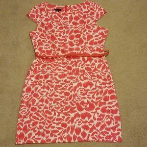 Beautiful pink and white sheath dress